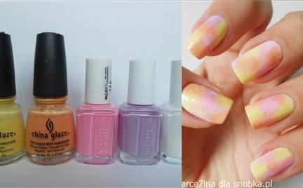 Manicure krok po kroku: Kolorowy miks