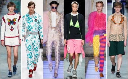 Postęp czy kryzys męskości Koronki i spódnice na pokazach mody męskiej