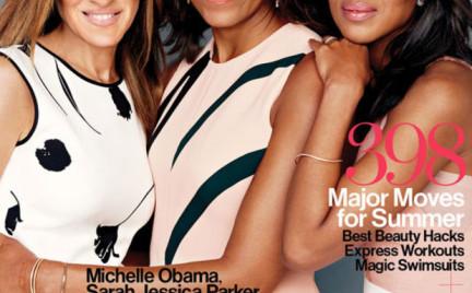 Michelle Obama Sarah Jessica Parker i Kerry Washington na okładce Glamoura