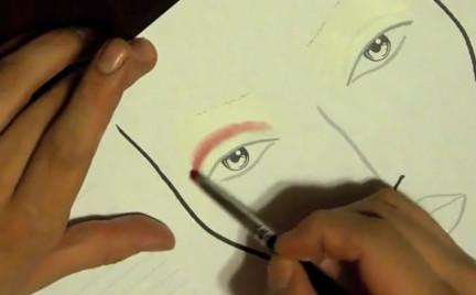 Wideomakijaże: szkice i face charts