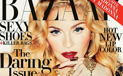 Perfekcyjnie wyretuszowana Madonna na okładce Harpers s Bazaar