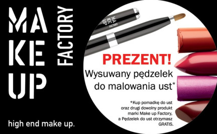 Promocja: Pędzelek do ust Make Up Factory w prezencie