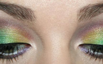 Makijaż 140 - zieleń i fiolet