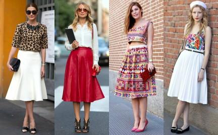 Trudny trend: rozkloszowana spódnica