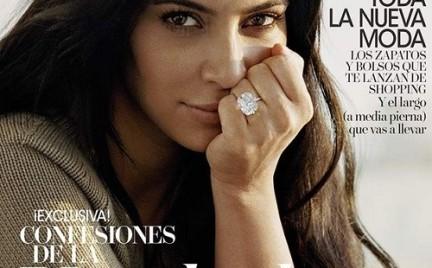 Kim Kardashian bez makijażu i w ciąży w hiszpańskim Vogue u