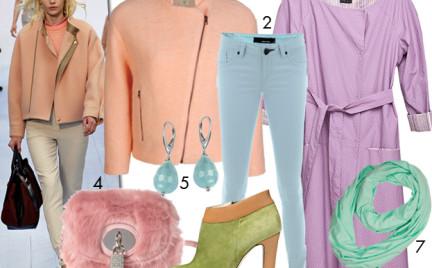 Moda z wybiegów: pastele w środku zimy