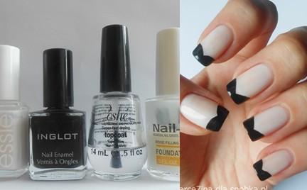 Manicure krok po kroku: Black tip