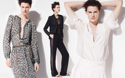 Saskia de Brauw w wiosennej kampanii Zara
