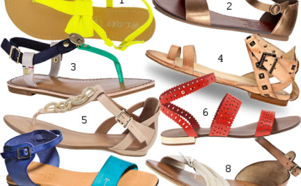 Kupujemy: sandały na płaskiej podeszwie. Ponad 60 par