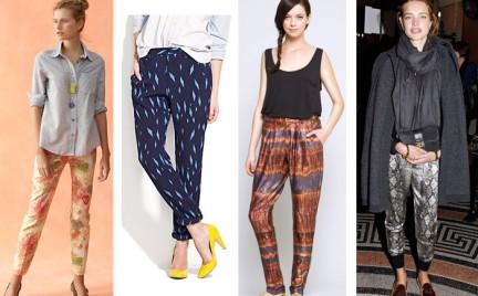 Trudny trend: wzorzyste spodnie