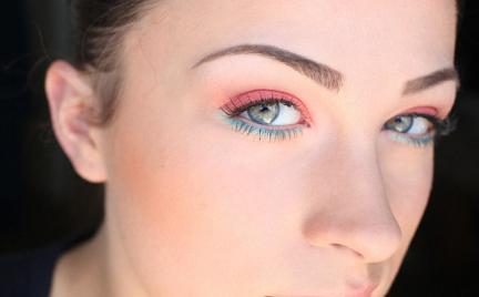 Makijaż 265 - pomarańcz i turkus