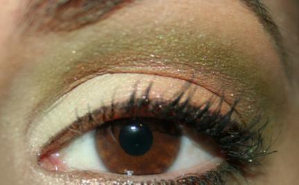Makijaż 96 - zielono - pomarańczowy