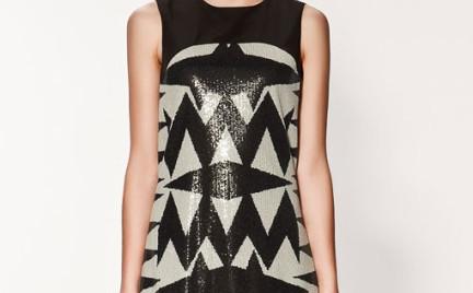 Pomysł na karnawał: cekinowa sukienka Zara