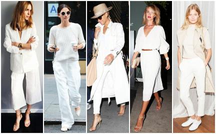 Outfit na lato: biel z domieszką nude i złota