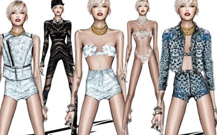 Roberto Cavalli dla Miley Cyrus
