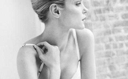 Bielizna Snobki: Jessica Stam w koronkach Oysho