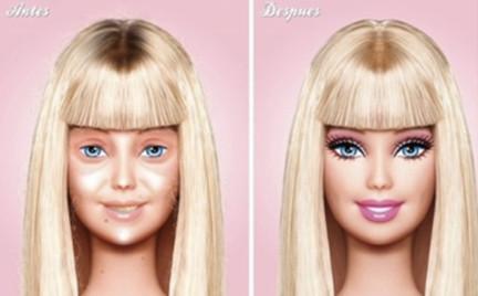 Barbie bez makijażu to brzydula