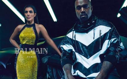 Kim Kardashian i Kanye West w kampanii Balmain