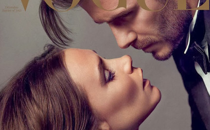 David i Victoria Beckham w paryskim Vogue