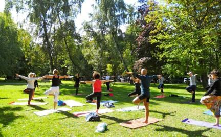 Snobka w mieście: joga w parku