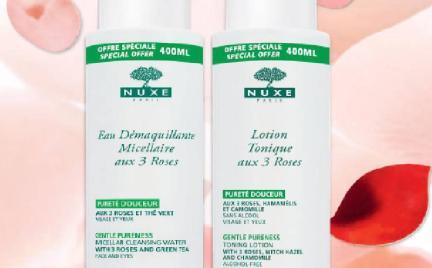 3 róże Nuxe w dużych pojemnościach