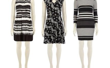 Czarno-białe sukienki Dorothy Perkins