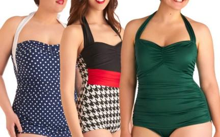 Kostiumy kąpielowe w stylu retro nie tylko dla szczupłych