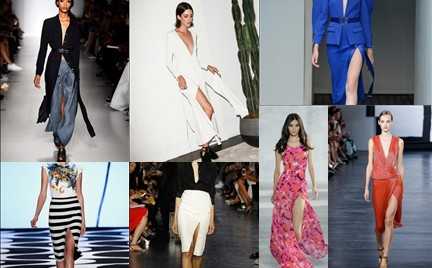 Trendy z NYFW: suknie i spódnice z dużym rozcięciem
