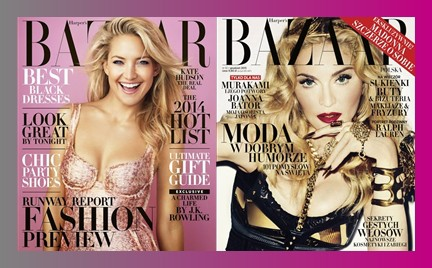 Bitwa okładek: amerykański Harper s Bazaar kontra polskie wydanie magazynu