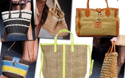 Moda z wybiegów: pleciona torba