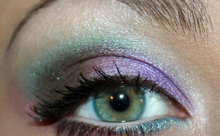 Makijaż 135 - fiolet i turkus