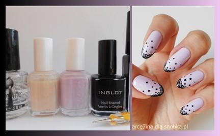 Manicure krok po kroku: liliowo