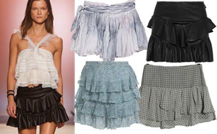 Kupujemy: krótką spódnice z falbanami