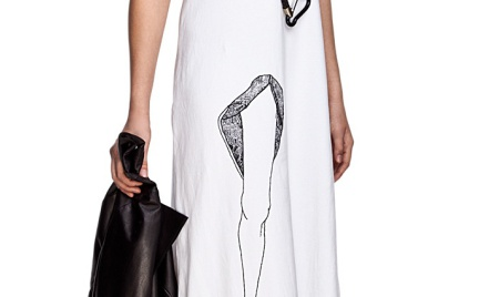 Co o niej myślicie: sukienka z nogą