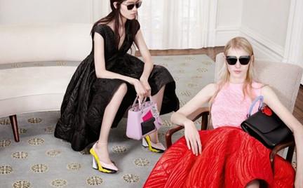 Polka w kampanii Dior
