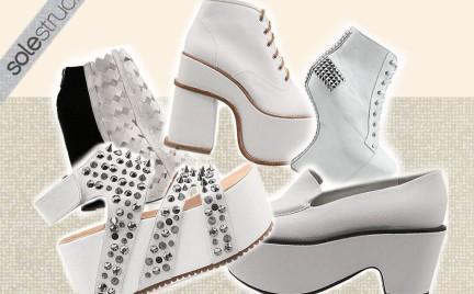 Białe buty Soletruck: tylko dla odważnej panny młodej..