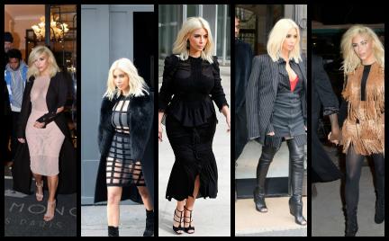 5 najgorszych stylizacji Kim Kardashian z paryskiego tygodnia mody