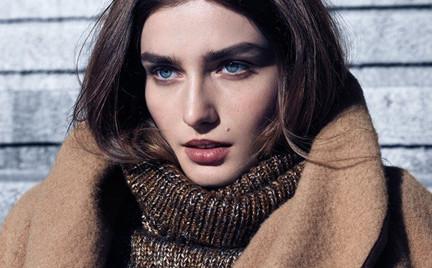 Andreea Diaconu w zimowej kampanii H M