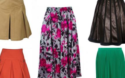 Przegląd: plisowane spódnice