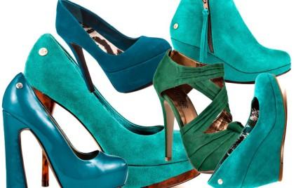 Modne buty: szmaragdowa zieleń