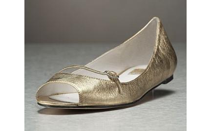 Złote baletki Dolce Vita