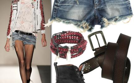 Moda z wybiegów: dżinsowe szorty