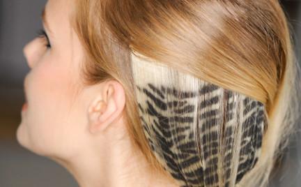 Motyw zebry na włosach Czyżby nowy trend kolejnego sezonu
