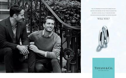 Para gejów w kampanii Tiffany Co.