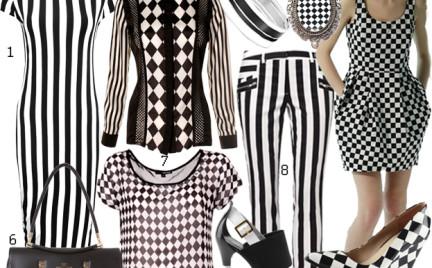 Moda z wybiegów: czerń i biel