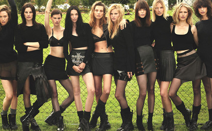 Supernormalne supermodelki Zobacz słynne modelki w świetnej sesji W Magazine