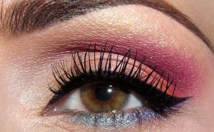 Makijaż: Pomarańczowy i bordowy