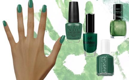 Kosmetyczna Agentka: zielone paznokcie na wiosnę
