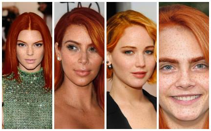 Nowy trend w sieci: celebryci na rudo