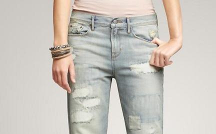 Jak wam się podobają: dżinsy z łatami Gap